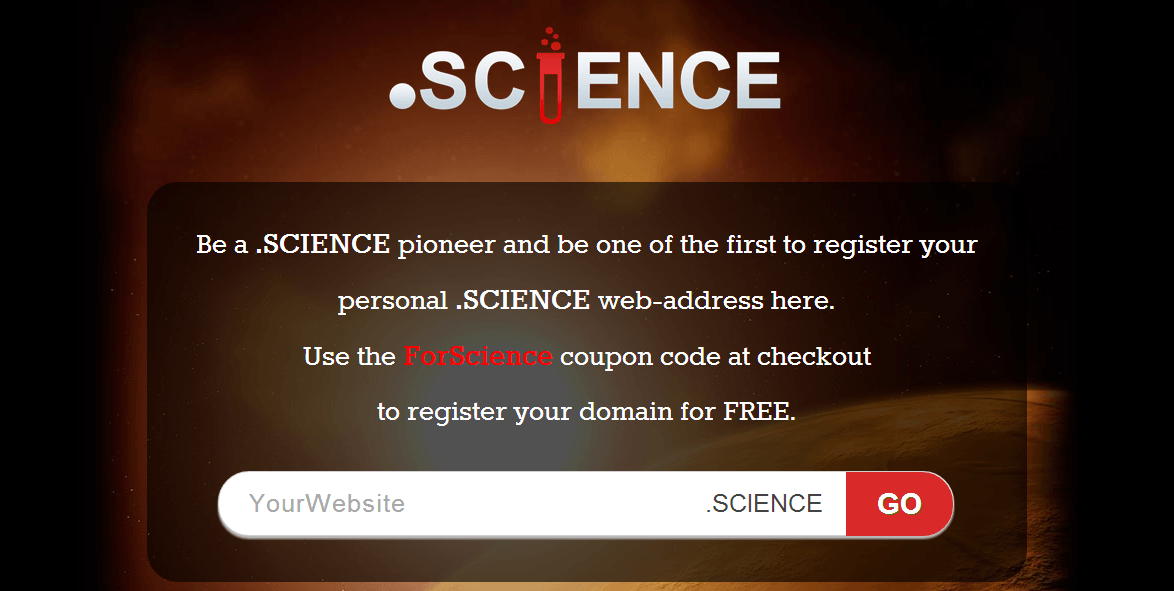 ForScience:.Science网站域名免费注册